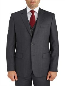 Berwin & Berwin Charcoal Pick and Pick Suit Jacket