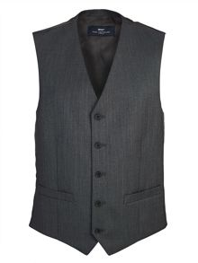 Paul Costelloe Modern Charcoal Pick and Pick Waistcoat