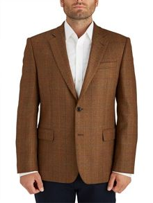 Modern Brown and Orange Check Jacket