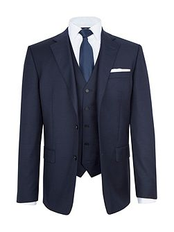 Modern Fit Navy Sharkskin Suit Jacket