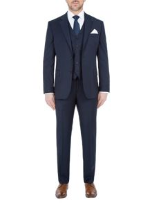 Paul Costelloe Modern Fit Navy Sharkskin Suit Jacket