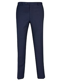 Bright Blue Birdseye Suit Trousers