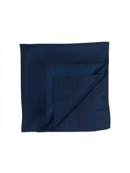 Paul Costelloe French Navy Plain Square Handkerchief