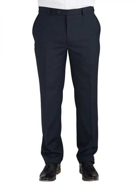 Paul Costelloe Blue plain single breasted suit trousers