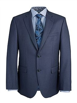 Tailored Mid Blue Birdseye Suit Jacket