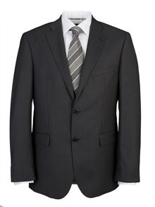 Baumler Grey semi-plain single suit jacket