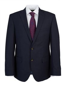 Slim Fit Indigo Micro Check Suit