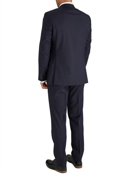 Baumler Slim Fit Indigo Micro Check Suit