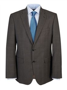 Taupe Prince of Wales Check Suit