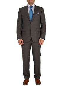 Baumler Taupe Prince of Wales Check Suit
