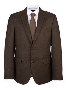 Baumler Tailored Brown Herringbone Jacket