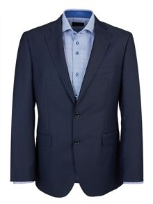Baumler Blue Semi-Plain Single Breasted Suit