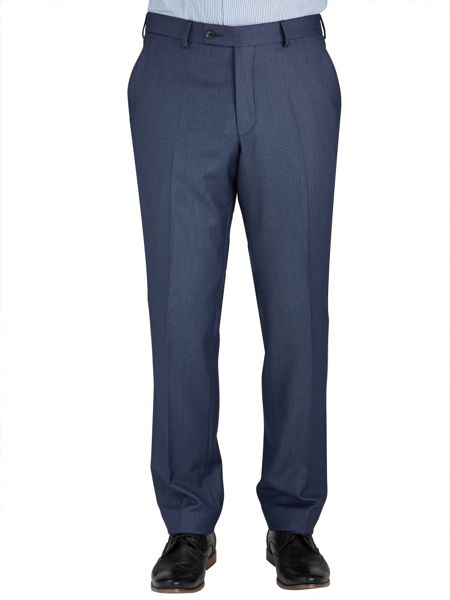 Baumler Tailored Mid Blue Birdseye Suit Trousers