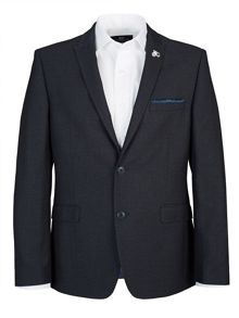 Slim Blue Textured Two Piece Suit