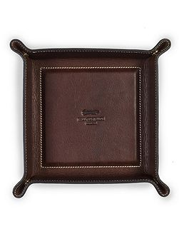 Brown coin tray