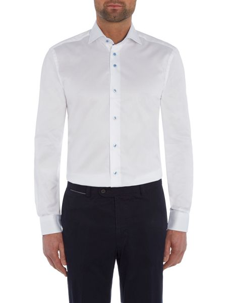 Baumler White single cuff shirt