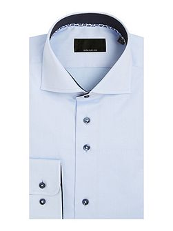 Blue single cuff shirt