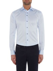 Baumler Blue single cuff shirt