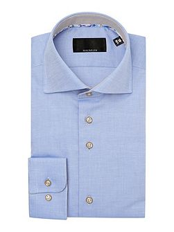 Blue pinpoint oxford single cuff shirt