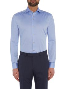 Baumler Blue pinpoint oxford single cuff shirt