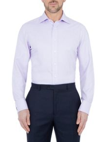 Paul Costelloe Modern fit lilac twill double cuff shirt