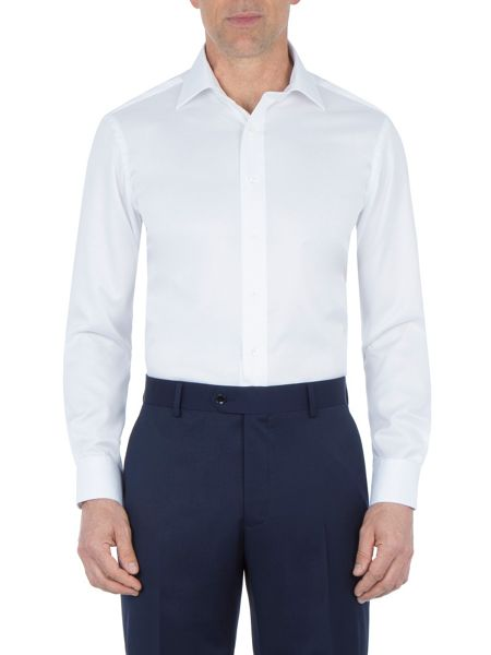 Paul Costelloe White Fine Twill Non-Iron Shirt