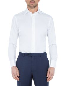 Paul Costelloe White Non-Iron Double Cuff Shirt