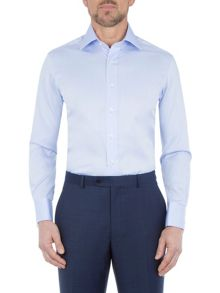 Paul Costelloe Blue non-iron single cuff shirt