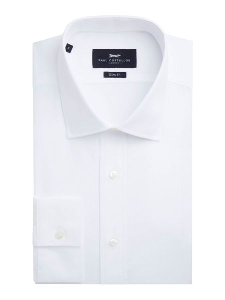 Paul Costelloe Slim fit white single cuff shirt