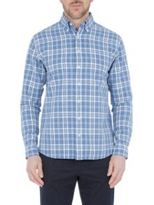 Paul Costelloe Long sleeve blue check shirt
