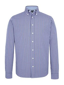 Long sleeve lilac/blue checked shirt