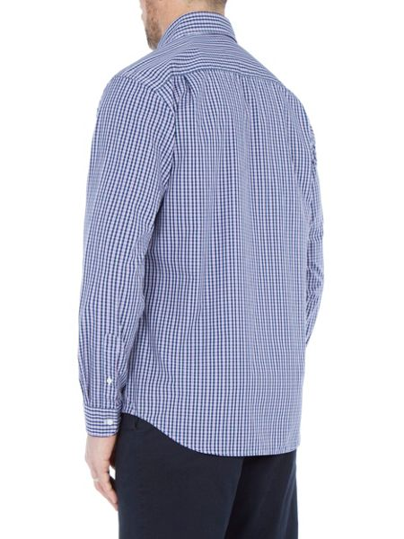 Paul Costelloe Long sleeve lilac/blue checked shirt