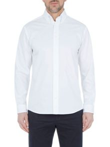 Paul Costelloe Long sleeve white pinpoint shirt