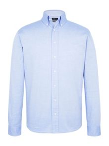 Paul Costelloe Long Sleeve Blue Pinpoint Shirt