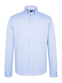 Long Sleeve Blue Pinpoint Shirt
