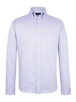 Long Sleeve Lilac Semi Plain Shirt