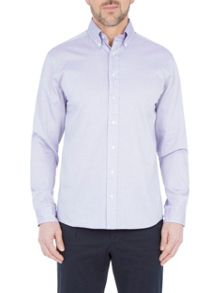 Paul Costelloe Long Sleeve Lilac Semi Plain Shirt
