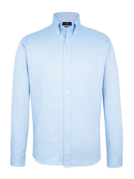 Paul Costelloe Long sleeve blue semi plain shirt