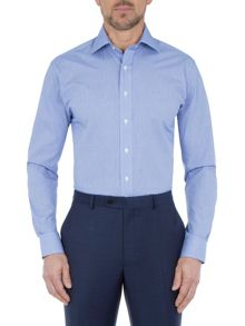 Paul Costelloe Modern Fit Mini Navy Puppytooth Shirt