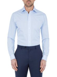 Paul Costelloe Modern Fit Blue Bengal Stripe Shirt