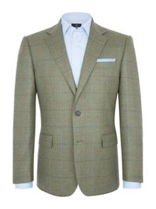 Paul Costelloe Green Overcheck Jacket