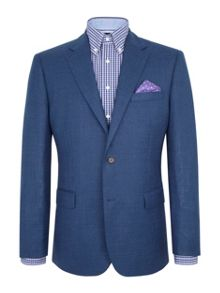 Paul Costelloe Blue Basketweave Jacket