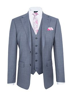 Modern Fit Light Blue Suit Jacket