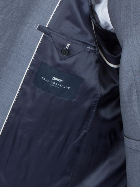 Paul Costelloe Modern Fit Light Blue Suit Jacket