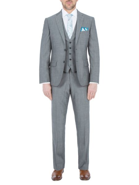 Paul Costelloe Modern Fit Grey Mohair Suit Jacket