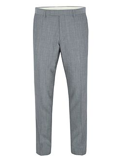 Modern fit grey mohair suit trousers