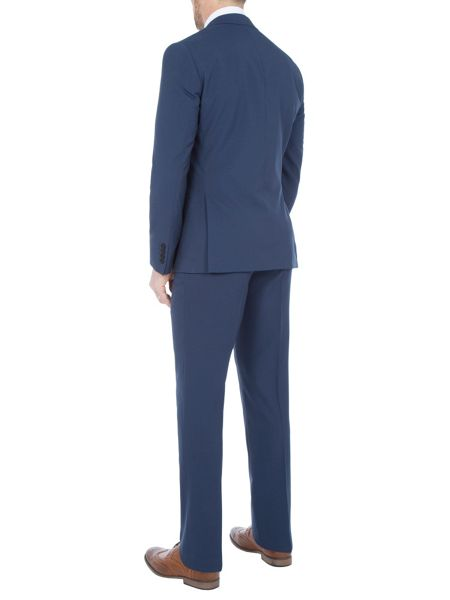 Paul Costelloe Slim Fit Blue Plain Mohair Suit Jacket