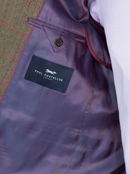 Paul Costelloe Sage Overcheck Jacket