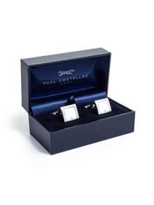 Paul Costelloe Green mother of pearl cufflinks