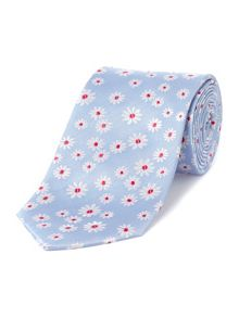 Baumler Light blue & pink daisy tie